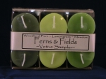 Votive Candle Sampler Six Pack - Ferns and Fields - Product Image