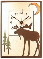 Bull Moose Ceramic Wall Clock - Product Image