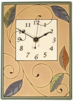 Mosaic Leaves Ceramic Wall Clock - Product Image
