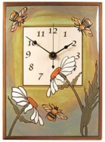 Daisy Bee Ceramic Wall Clock - Product Image
