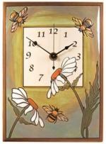 Daisy Bee Ceramic Wall Clock - Product Image