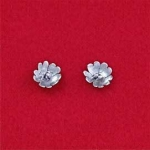 Sterling Silver Single Flower Post Earring - Product Image