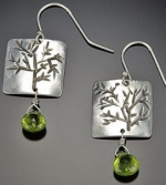 Square Tree Earrings - Product Image