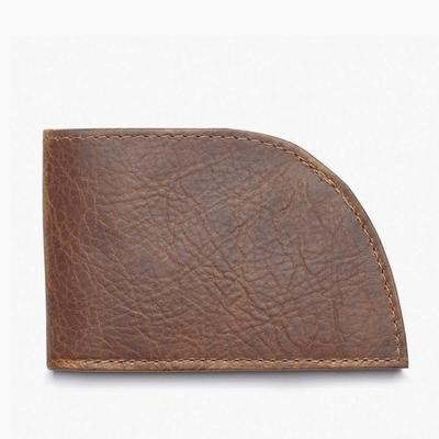 Front Pocket Wallet in Bison (6 Card with ID Window) - Product Image