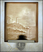 Lighthouse Lithophane Night Light - Product Image