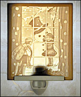 Snowman Lithophane Night Light - Product Image