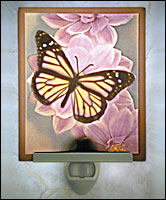 Butterfly Colored Lithphane Night Light - Product Image