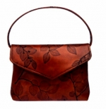 Leaf Leather Evening Bag with Detachable Handle - Style 135 - Product Image