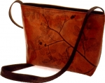 Leaf Leather Medium Zipper Bag - Style 339 - Product Image