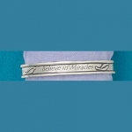 Believe In Miracles Pewter Bangle - Product Image