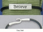 Believe Leather Bracelet - Product Image