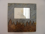 Natural Slate Photo Frame- Trees - Product Image