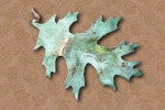 Leaf Pin - Green Patina - Product Image