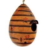 Gourd Bird House - Bees Design - Product Image