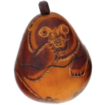 Bear - Petite Carved Gourd Box - Product Image
