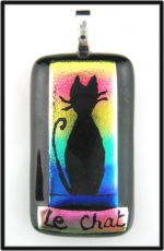Le Chat (The Cat) Dichroic Pendant - Product Image