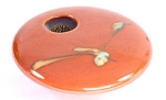 Ikebana - Red Zen Mini Round - Product Image