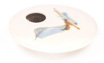 Ikebana- Ivory Wave Mini Round - Product Image
