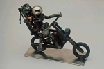 Motorcycle With 2 Riders Bolt Sculpture - Product Image