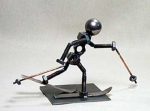 Cross Country Skier Bolt Sculpture - Product Image