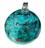 Pairpoint Teal Green and Amethyst Witchball - Product Image
