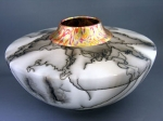 Horse Hair Vessel with Gold Leaf Neck - Product Image