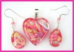 Pink Heart Dichroic Set - Product Image