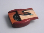 Heartwood Padauk Wave Inlaid Compass Box - Product Image
