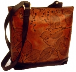 Leaf Leather Small Tote Bag - Style 348 - Product Image