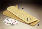Continous 3 Track Cribbage Board - Product Image