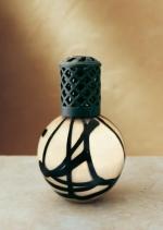 La-Tee-Da! Earthly Elements Beige Black Lamp - Product Image