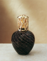 La-Tee-Da! Earthly Elements Black and Copper Swirl Lamp - Product Image