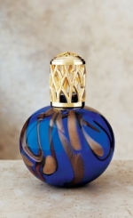 La-Tee-Da! Original Collection Blue Gold Rust Lamp - Product Image