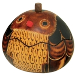 Owl - Petite Carved Gourd Box - Product Image