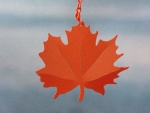 Red Maple Leaf Windcatcher - Product Image