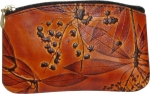 Leaf Leather Small Curve Coin Purse - Style 2604 - Product Image