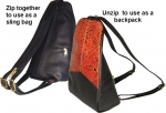 Leaf Leather Sling Backpack - Style 651 - Product Image