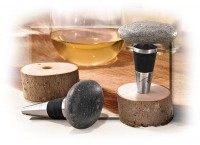 New England Beach Stone Bottle Stopper - Product Image